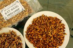 Bạn có thể mua mứt hạt bàng về làm quà cho tour Côn Đảo của mình.